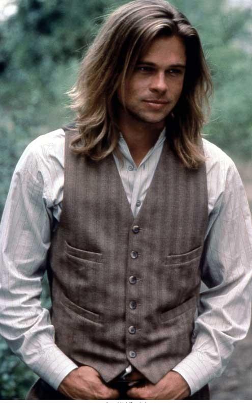 brad pitt hairstyles. Brad Pitt can get away with