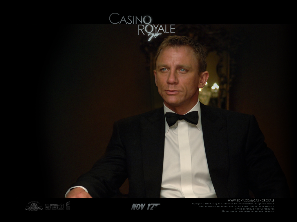 james bond tie in casino royale