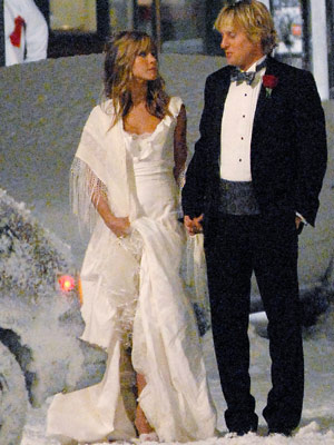 wedding of Schwimmer's FRIENDS co-star JENNIFER ANISTON and BRAD PITT.