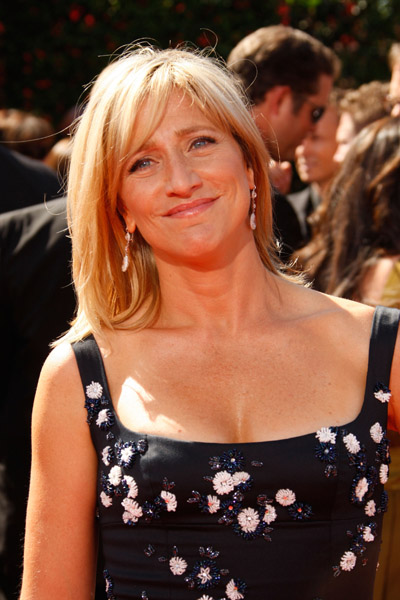 Actress Edie Falco arrives at the 59th Annual Primetime Emmy Awards at the Shrine Auditorium on September 16, 2007 in Los Angeles, California.