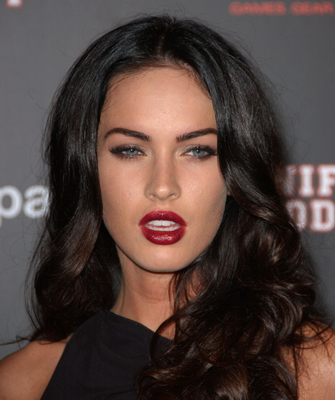 megan fox hair extensions. megan fox hair color. megan